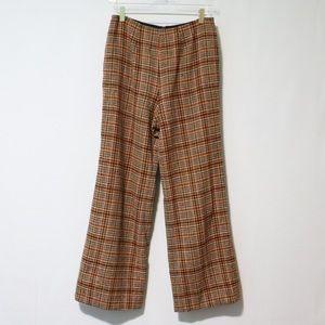 Vintage Pendleton 70s plaid wool pants trousers 12